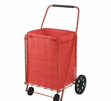 4 Wheel Utility Foldable Cart Wheel Rolling Hand Truck Storage Container w Liner