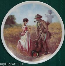 "Carl Spitzweg Hunter with Dog and Girl ""Peinliches Verhör"" Collector's 8"" Plate"