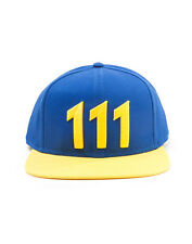 OFFICIAL FALLOUT 4 VAULT 111 BLUE AND YELLOW EDITION SNAPBACK CAP *NEW*