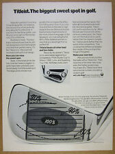 1974 Titleist Golf Clubs Irons 'the biggest sweet spot in golf' vintage print Ad