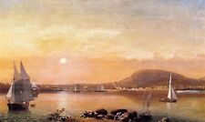 Oil Fitz Hugh Lane - Camden Mountains and Harbor from the North Point of Negro
