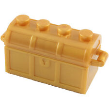 2 Pearl Gold LEGO Treasure Chest with Lid (4738)