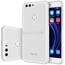 Transparent Clear Silicone Slim Gel Case & Screen Protector For Huawei Honor 8
