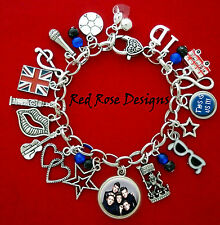 ~ONE DIRECTION HARRY, LOUIS, NIALL, LIAM, ZAYN THIS IS US THEMED CHARM BRACELET~