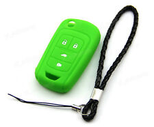 Green Silicone Case Cover For Chevrolet Sonic Equinox 4 Buttons Remote Flip Key