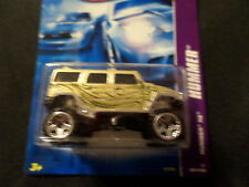 HW HOT WHEELS 2007 HUMMER SERIES #1/4 HUMMER H2 GOLD VHTF HOTWHEELS BLUE RARE