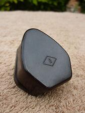 Vintage Old Britmac Art Deco Brown Bakelite Plug 3 Pin 5AMP Cleaned Polished