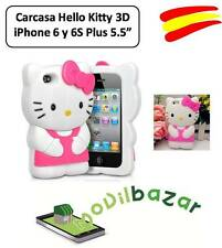 FUNDA CARCASA IPHONE 6 PLUS y 6S PLUS 5,5 HELLO KITTY SILICONA 3D ESPAÑA TIENDA