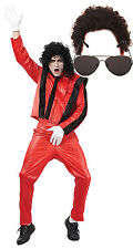 Michael Jackson Thriller Fancy Dress 80s Traje Traje Con Afro & Gafas De Sol