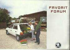 SKODA FORUM SALES BROCHURE MID 90's