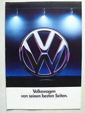 Prospekt Volkswagen VW Programm - Polo bis Corrado G 60, 1.1991, 24 Seiten