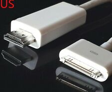 6ft 30 Pin to HDTV HDMI Cable Digital AV Adapter for Apple iPad 2 3 iPhone 4S 4G