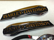 Genuine OEm Harley-Davidson Touring Dyna Softail Gas Fuel Tank Emblems Badges