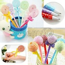 6Pcs Lollipop Ball Pen Novelty Kids Toys School Office Gifts Cartoon Stationery