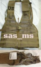 USMC MOLLE II MARPAT FLC FIGHTING LOAD CARRIER VEST COYOTE BROWN ZIPPERED NIP
