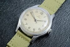 1940s WWII OMEGA US MILITARY US ARMY GORGEOUS DIAL! Cal.30T2SC S. Steel Watch