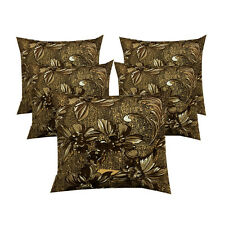 Homefab India Set of 5 Velvet Cushion Covers 16 X 16 inch (CUS068)