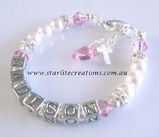 Christening / Baptism Gift  BABY GIRL'S Name Bracelet  Birthday gift Idea