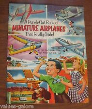 1954  A Punch-out Book Of Miniature Airplanes That Really Glide  Pollard / Lowe