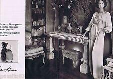 PUBLICITE ADVERTISING 095 1977 Estée Lauder parfum Private Collection (2 pages)
