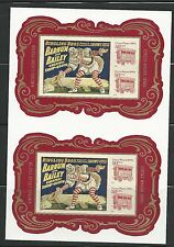 2014 #4905b Vintage Circus Souvenir Sheet Pair Imperf Without Die Cuts