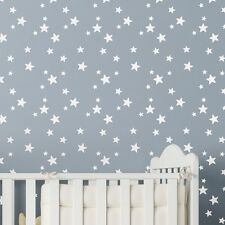 Wall Stencil - 5-POINT STAR Repeat Wallpaper Stencil Nursery Childrens Bedroom