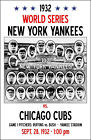 1932 World Series Poster - Yankees vs. Cubs Buy Any 2 Get 1 Free