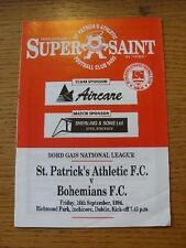16/09/1994 St Patricks Athletic v Bohemian  (Slight Creased Corner). No obvious