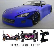 1/10 Scale Honda S2K RTR Custom RC Drift Cars 4WD 2.4Ghz & Charger BLUE