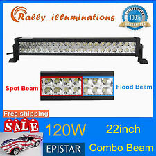 22inch 120w Led Light Bar Spot Flood Work Driving Boat Truck SUV Offroad 4WD 20""