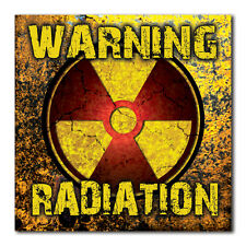 WARNING RADIATION Bumper Sticker - Decal apocalypse zombie nuclear radioactive