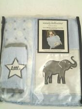 NEW Wendy Bellissimo Travel Blanket & Car Seat Strap Cover Set Baby Boy Gift Set
