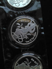 2013 1oz .999 Fine Silver Suisse Gold Year of the Snake round! Extremely Rare!
