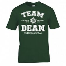 """SUPERNATURAL """"TEAM DEAN"""" T SHIRT NEW"""