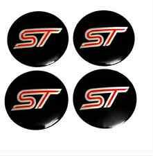 4x Alloy Ford ST Center Cap Stickers Wheel Center Hub Badges Emblems 56mm Fiesta