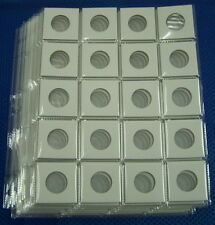 7x 20 pocket pages + 140 x 2X2 Cardboard coin Holders Flips for Sm.Dollar (27mm)