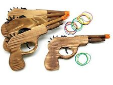 4 Classic Revolver Hand Guns fire rubbers bands! A Fun Shooting Toy! Free Ship!