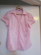 Light Pink Short Sleeve Shirt / Blouse / Top in Size 14 - NWOT