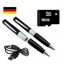 Mini Kamera USB  Cam Stift Kugelschreiber Camera mit 16 GB Karte Silberfarben