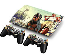 Great Sticker Decal For PS3 PlayStation Super Slim 4000 + 2 Controllers Skins