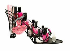 High Heel Shoe Shaped Nail Polish Cosmetic Holder Display Stand Rack Vanity Bath