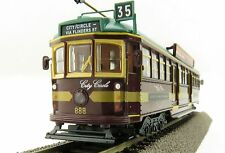 Cooee ELECTRIC POWERED W6 CLASS DIECAST MELBOURNE TRAM CITY CIRCLE NO. 888 1:76