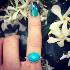 Turquoise Gemstone Gold Filled Wire Ring