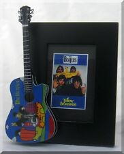 BEATLES Miniature Guitar Frame Yellow Submarine