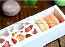 10PCS Chocolate Cookie Macaron Cupcake Hollow Box Case with Window
