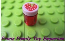 NEW Lego Minifig Pink STRAWBERRY Jam Lid Red Jar Candle Friends Kitchen Food