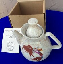 RWCS 2006 RED WING COLLECTOR'S SOCIETY COMMEM. ROUNDUP TEAPOT WITH BOX AND TAG