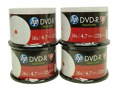200 HP White inkjet printable 16X 4.7GB DVD-R NEW (free shipping)