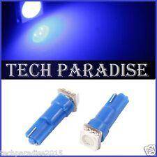 9x Ampoule T5 W1.2W W2X4.6D ( pour B8.5D ) LED SMD Bleu Blue Neo Wedge