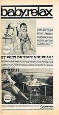 PUBLICITE  1965    BABY RELAX   siège bébé